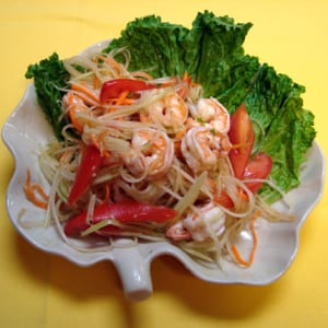 Best Thai Restaurant Shrimp Papaya Salad